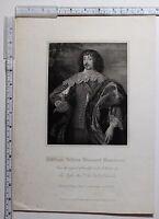 C1815 Antiguo Estampado ~ William Villiers Vizconde