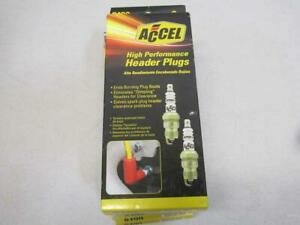 """Lot of 5 Accel Spark Plugs Copper Core Shorty Tapered Seat .460"""" 8pk 8199"""