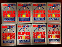 1989-90 Hoops NBA SUPER STARS ~ LOT OF 8 SETS SEARS YELLOW BORDER JORDAN BlRD XX