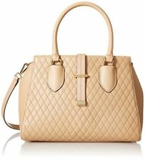 Calvin Klein $238 NWT L-Selna Quilted Lamb Leather Tote Nude Handbag Crossbody