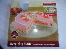 Revolving Glass Platter Cakes/Cheese/Presentation