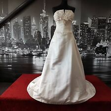 Designer Sequinned Gown with amazing Train (Ivory-Size 10) Wedding etc