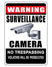No Trespassing Sign Keep Criminals Away Video Surveilance Sign Durable Aluminum