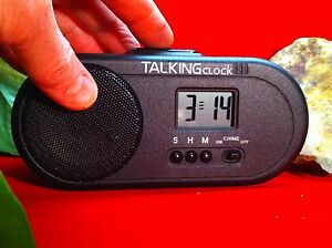 TALKING ENGLISH HUMAN VOICE SPEAKING Battery Power Snooze Alarm Clock VERY LOUD
