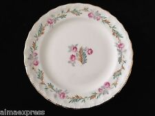 PG Pope Gosser LARGO #3195 CCP China Pink Flowers Leaves BREAD BUTTER PLATE