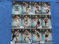 2012 SELECT CHAMPIONS AFL CARDS PORT ADELAIDE POWER BASIC TEAM SET