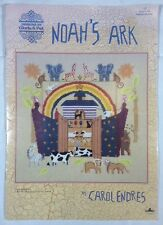 Noahs Ark Cross Stitch Carol Endres Designs Gloria & Pat Folk Art Pattern