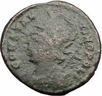 Constantine I The Great founds Constantinople Ancient Roman Coin Nike  i32505