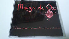 "MAGO DE OZ ""EL QUE QUIERA ENTENDER... QUE ENTIENDA"" CD SINGLE 2 TRACKS COMO NUEV"