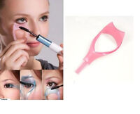 2X Eyelash Tool 3 in 1 Makeup Mascara Shield Guard Curler Applicator Comb FO