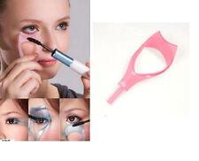 2x 3 en 1 maquillaje mascara escudo protector rizador peine aplicador guWG