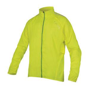 Endura Pakajak Pocket Rain Cycling Jacket Hi Viz Yellow (Size Large Only)
