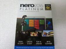 Nero 2016 Platinum HD Multimedia Suite 4k Ultra HD Audio Video Create Burn Copy