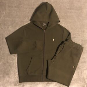 Polo Ralph Lauren Olive Green Modern Slim-fit Two-piece Tracksuit (L/L)