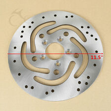 """11.5"""" Silver Rear Brake Rotor Disc Fit For Harley Sportster Softail Touring Dyna"""