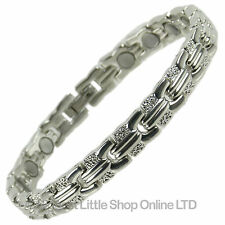 NEW Ladies Magnetic Bracelet Silver Finish Copper Alloy Pretty - FREE Gift Box