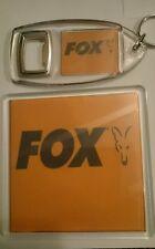 FOX BIVVY TABLE CARP FISHING TACKLE COASTER & KEYRING