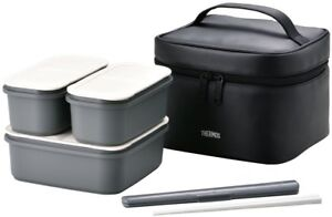 Thermos Fresh Lunch Box 1.8 L Black DJF-1800 BK Shipping from Japan