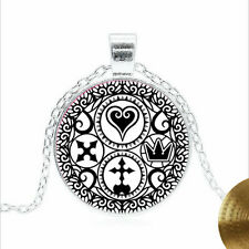Kingdom Hearts Tibet silver Glass dome Necklace chain Pendant Wholesale