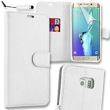Samsung Galaxy S7 Cuero PU Abatible Billetera De pie Estuche + Protector GRATIS Y Stylus