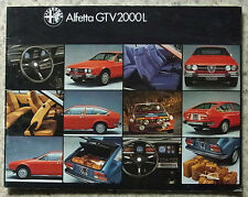 ALFA ROMEO ALFETTA GTV 2000l AUTO SALES BROCHURE c1979