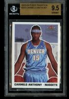 2003-04 Fleer Tradition Carmelo Anthony Rookie #263 BGS 9.5 Gem Mint RC Blazers!