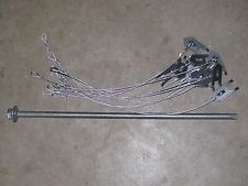 """2 Dozen WOLF FANG ANCHORS w/ 24""""CABLE & DRIVER, trapping stakes, traps, coyote"""
