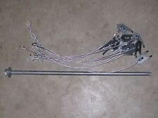 """1 Dozen WOLF FANG ANCHORS w/ 18"""" CABLE & DRIVER, trapping stakes, traps, coyote"""