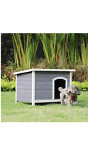 New Outdoor Wooden Dog House with Hinges,Raised Feet,Openable Asphalt Roof&Re.