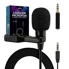 Lavalier Mikrofon Ansteckmikrofon Clip-On Microphone Omnidirectional