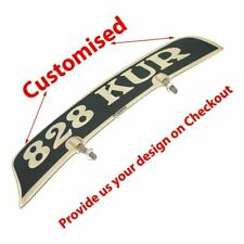 Customized Front Mudguard License Number Plate Motorcycle Universal Fit @CA