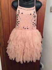 BNWT NEXT Pink Sparkle Tutu Ruffle Dress 12 Yrs RRP £32