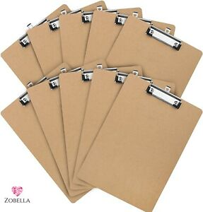 A4 Quality Wooden Clipboard with Hanging Hole Suitable for Office/School