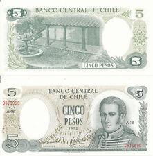 Cile - 5 pesos 1975 UNC Pick 149a