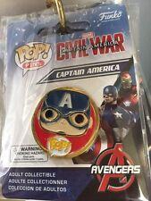 Marvel CAPTAIN AMERICA Funko Pop! Pin NIP free shipping