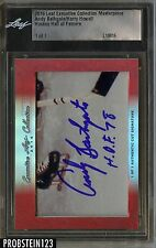 2016 Leaf Executive Masterpiece Hockey HOF Andy Bathgate Harry Howell AUTO 1/1