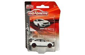 Majorette 1/64 Premium Cars Honda Civic Type R (White) Diecast Car 3052MJ9