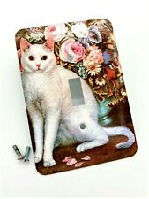 GE Cat Floral Metal Light Switch Cover Wall Plate