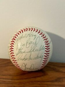 Mid-1980s (including 1986 players) Richmond Braves Team Signed Baseball
