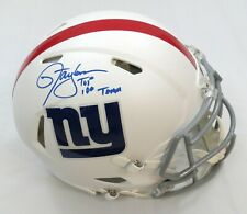 LAWRENCE TAYLOR SIGNED MATTE WHITE GIANTS AUTHENTIC HELMET w/NFL 100 INS BECKETT