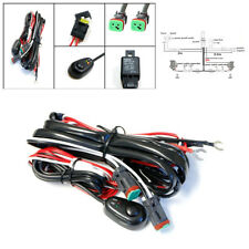 40A 2 Lead Car LED Work Light Bar Wiring Harness Kit Switch Cable Set Waterproof