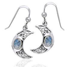 Moon Spirit Celtic Moonstone Sterling Silver Earrings
