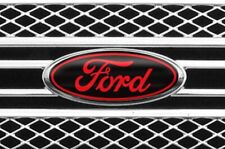 New! Fits various Ford Models Black/Red Logo Overlay Decals 3Pc Kit! Read The Ad