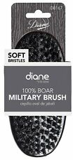 DIANE BY FROMM - 100% BOAR SOFT WAVE MILITARY PALM BRUSH, BLACK, NEW