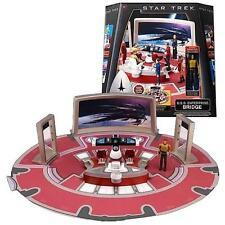 STAR TREK ENTERPRISE BRIDGE REPLICA  PLAY SET ++ CAPT KIRK FIGURE ++BONUS SCOTTY