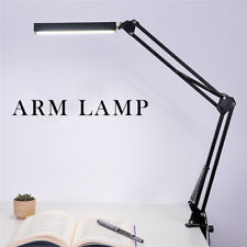 AU Swing Arm Clamp Table Desk Lamp LED Light Office Home Lighting Fixture Black