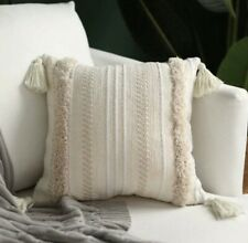 Tufted Cushion Cover Beige
