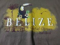New Carnival Cruise Mens T Shirt Size S Brown Belize Short Sleeve Crewneck