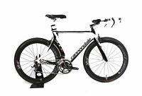 2012 Cannondale Slice 5 Carbon Tri Bike 2x10 Speed Profile Design 58/24 54 cm