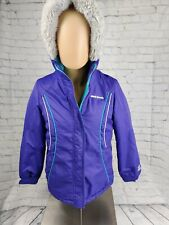 Zeroxposur Youth L Size 14 Winter Jacket Girl/Women - Hooded - Purple/Teal